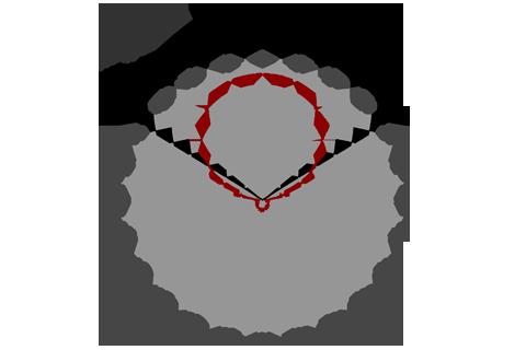 Кривая силы света (круговая) светильника Айсберг матовый, 14 Вт 3639