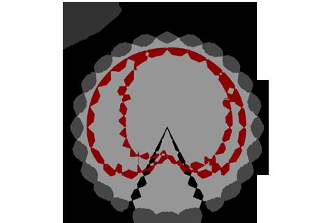 Кривая силы света (круговая) светильника Шар Молочный, 32 Вт 3834