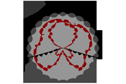 Кривая силы света (круговая) светильника Шар Золотистый, 32 Вт 3832