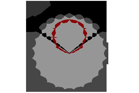 Кривая силы света (круговая) светильника Модуль, консоль К-1, 16 Вт 3373