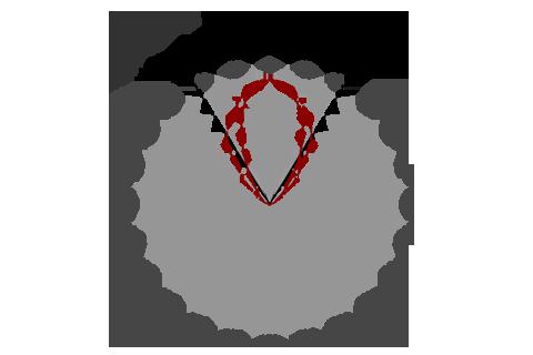 Кривая силы света (круговая) светильника Модуль Прожектор 59°, универсальный, 64 Вт 4648