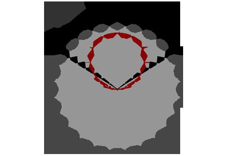 Кривая силы света (круговая) светильника Модуль Галочка, универсальный, 128 Вт 3091