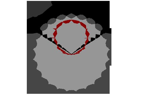 Кривая силы света (круговая) светильника Модуль Галочка, универсальный, 256 Вт 3092