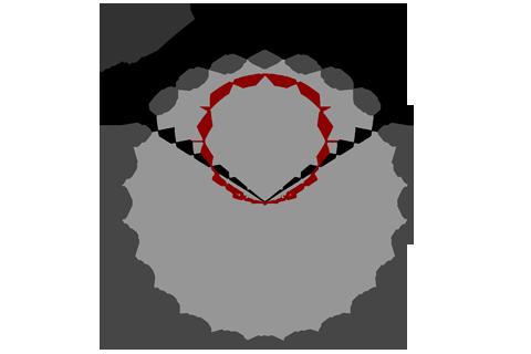 Кривая силы света (круговая) светильника Модуль Галочка, универсальный, 32 Вт 3376