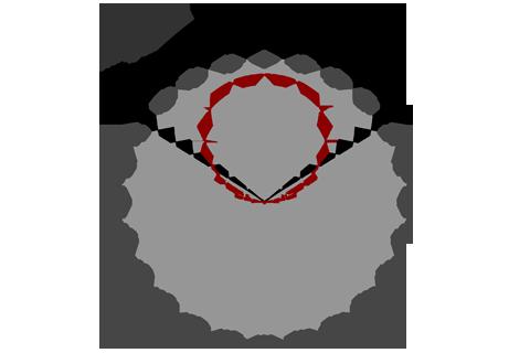 Кривая силы света (круговая) светильника Модуль Галочка, универсальный, 96 Вт 3093