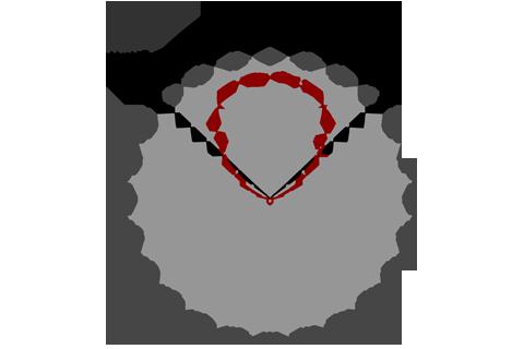 Кривая силы света (круговая) светильника Офис Премиум призма, 28 Вт 3633