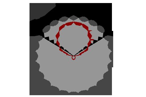 Кривая силы света (круговая) светильника Офис ViLED матовый, 42 Вт 4337