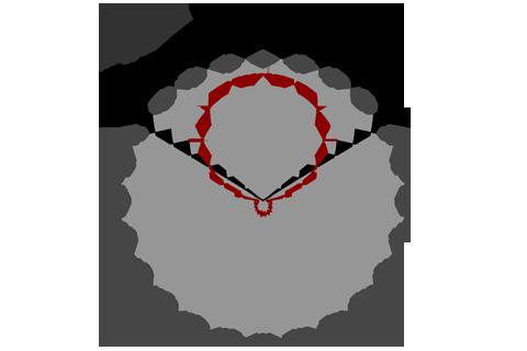 Кривая силы света (круговая) светильника Айсберг матовый, 28 Вт 3762