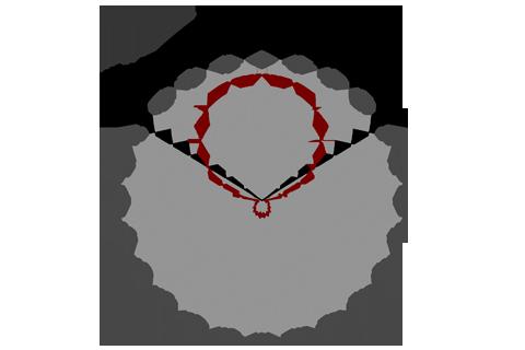 Кривая силы света (круговая) светильника Айсберг матовый, 56 Вт 4438