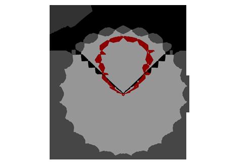 Кривая силы света (круговая) светильника Сеть призма, 42 Вт 4363