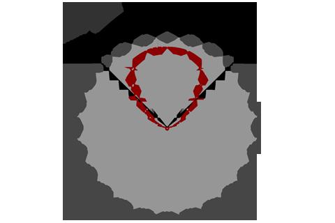 Кривая силы света (круговая) светильника Сеть колотый лед, 56 Вт 4177