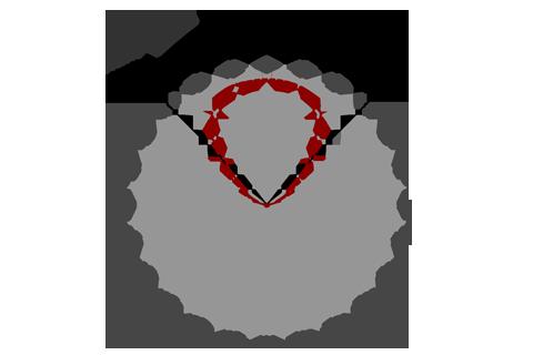 Кривая силы света (круговая) светильника Сеть колотый лед, 28 Вт 4253