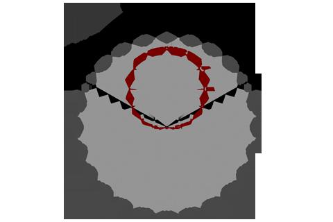 Кривая силы света (круговая) светильника ЖКХ, 11 Вт, светодиодный светильник с акустическим датчиком 4635