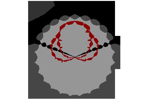 Кривая силы света (круговая) светильника Модуль, консоль МК-2, 64 Вт 3083