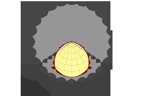 Кривая силы света (круговая) светильника Модуль, универсальный У-1, 32 Вт, светодиодный светильник 5846