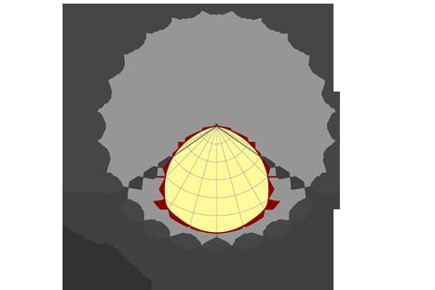 Кривая силы света (круговая) светильника Модуль, универсальный, У-1, 48 Вт, светодиодный светильник 5852
